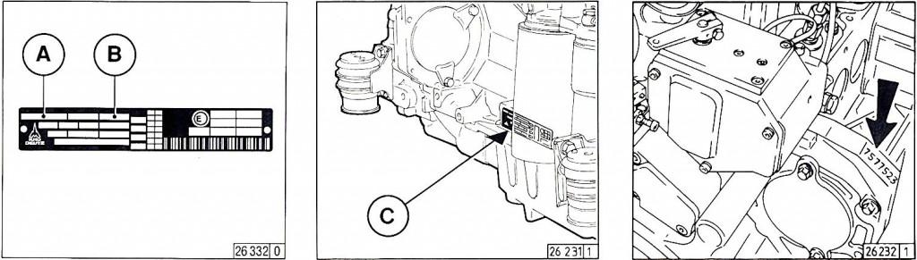 Moottorinumeron sijainti 1012 1013 2012 2013