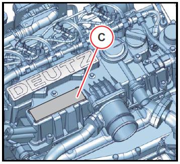 Moottorinumeron sijainti 2.9 1