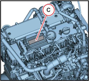 Moottorinumeron sijainti 3.6 1