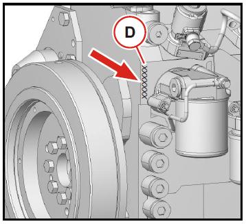 Moottorinumeron sijainti D 2011 2