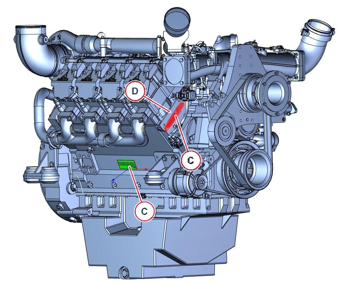 Moottorinumeron sijainti TCD 2015 PP 4