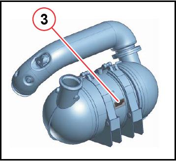Pakokaasupuhdistus numero sijainti 7.8 Stage IIIB 1