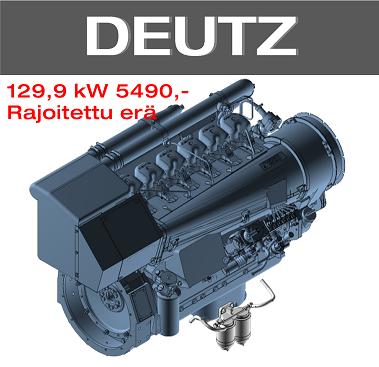 Dieselmoottori 129,9 kW rajoitettu erikoiserä.