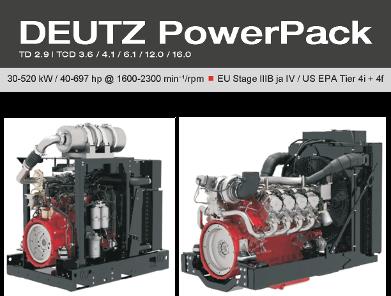 Grönblomilla valikoimissa nyt uusia DEUTZ PowerPack –malleja
