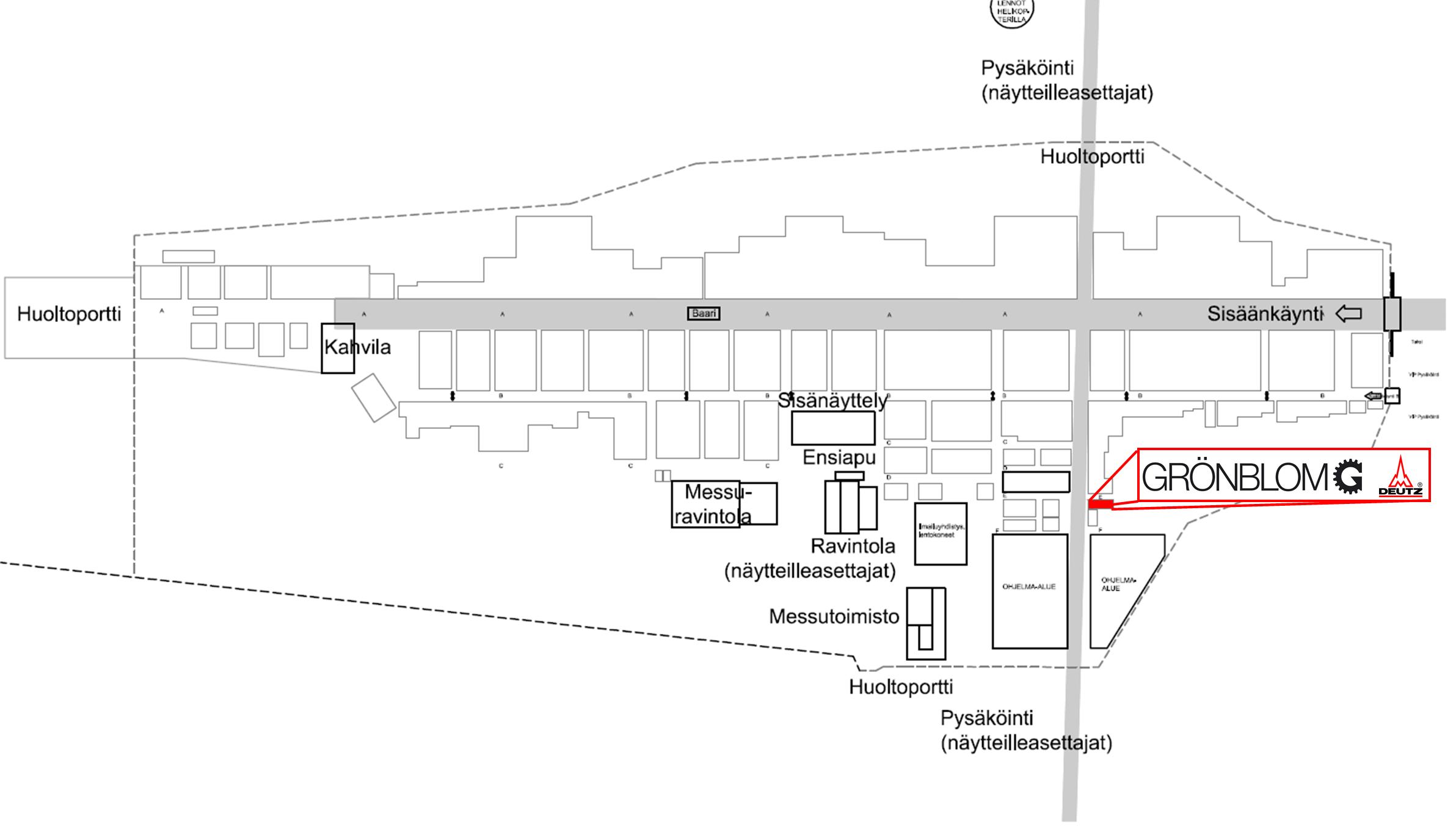 Grönblomin DEUTZ -osasto esillä paikalla E50