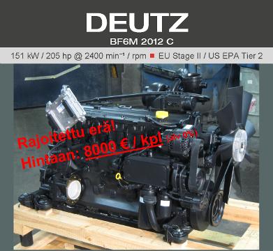 Erä varastomoottoreita hintaan 8000 € /kpl (alv 0%)