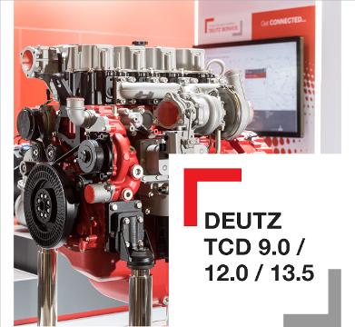 Mielenkiintoinen uusi DEUTZ TCD 9.0 / 12.0 / 13.5 -dieselmoottorisarja työkonekäyttöön