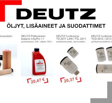 DEUTZ Öljyt, lisäaineet ja suodattimet 2019