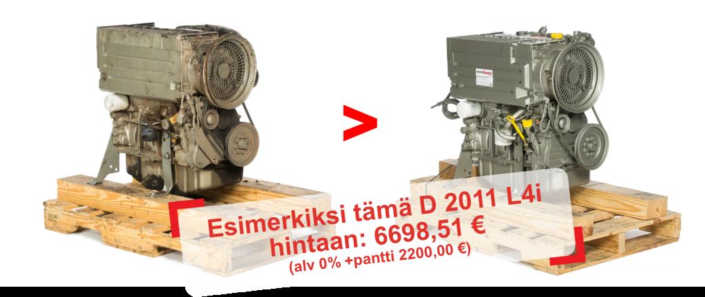 Esimerkiksi tämä D 2011 L4i hintaan: 6698,51 € (alv 0% +pantti 2200,00 €)