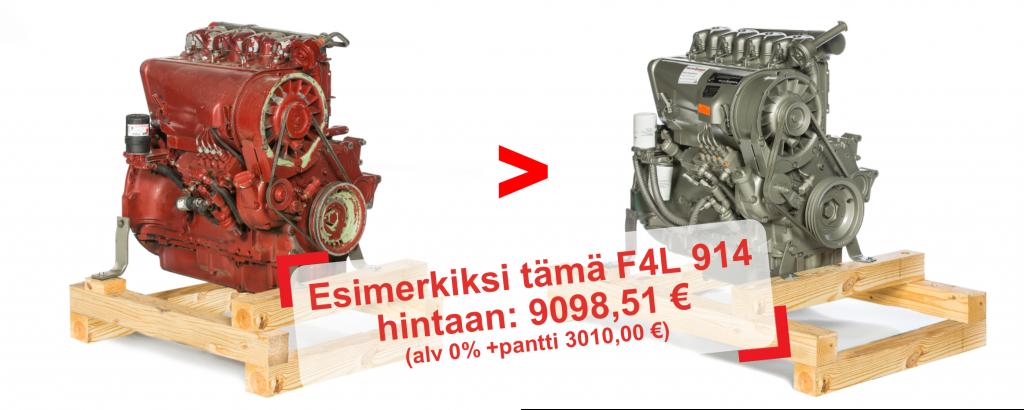 Esimerkiksi tämä F4L 914 hintaan: 9098,51 € (alv 0% +pantti 3010,00 €)